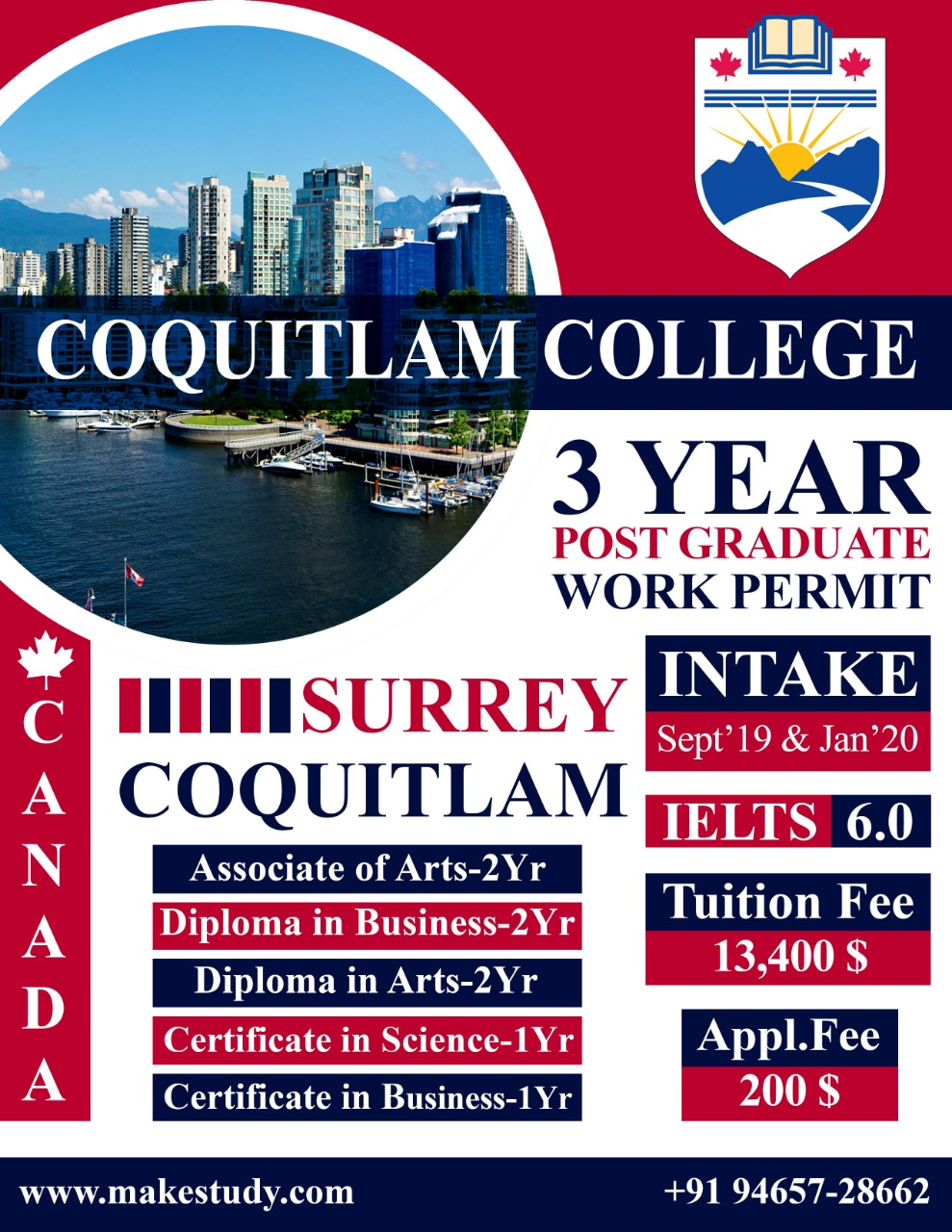 Recruit for Coquitlam College, BC . CANADA