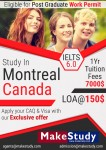 Recruit for Study in Canada , 1 Year Tuition fee Just 7,000CAD$