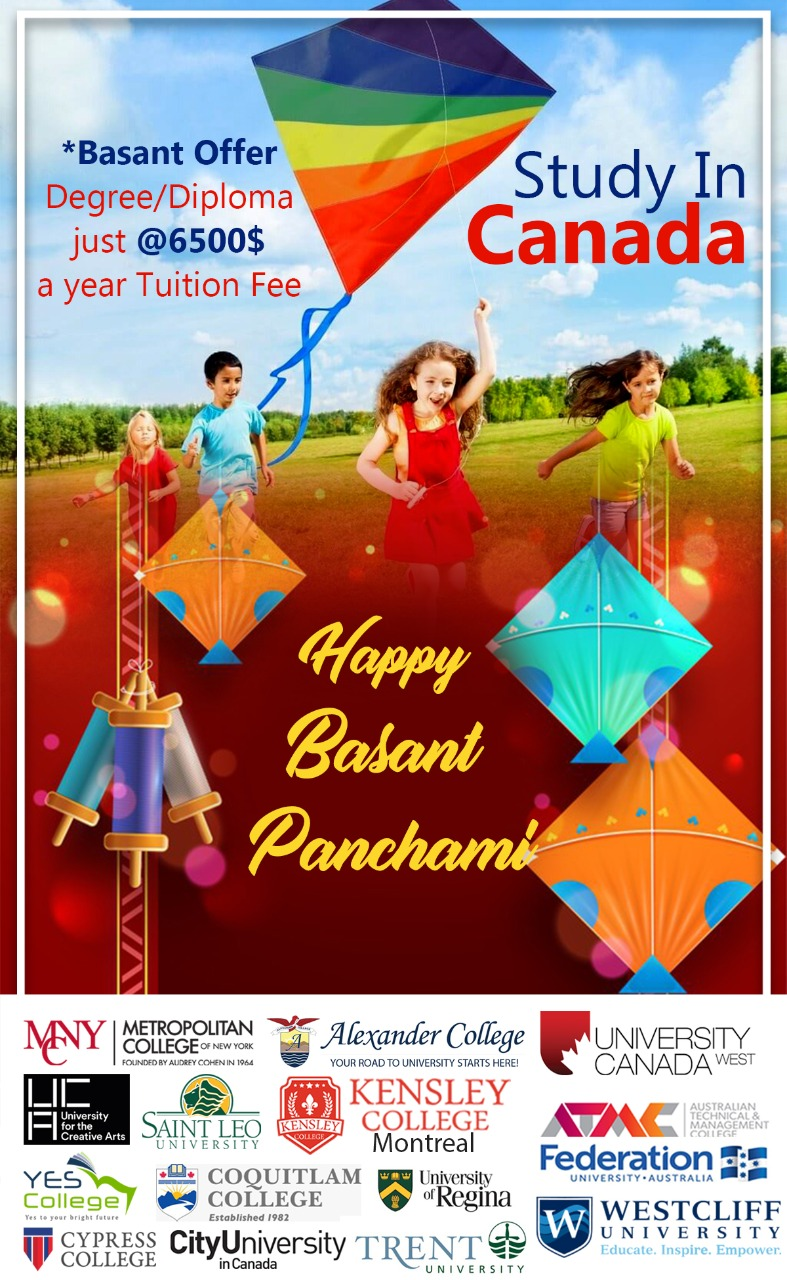 Study in Canada @ 6500$