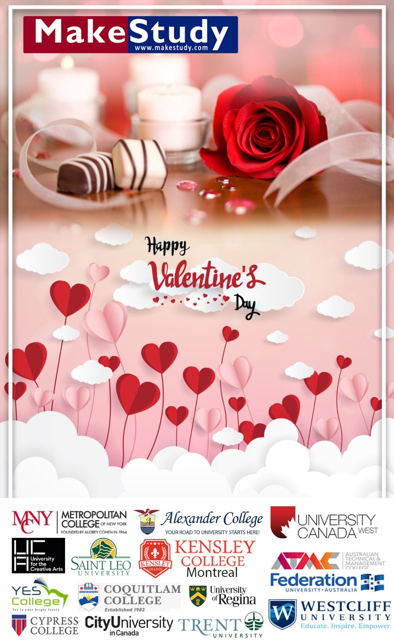 Valentine Day Greetings with MakeStudy Team and it's associate